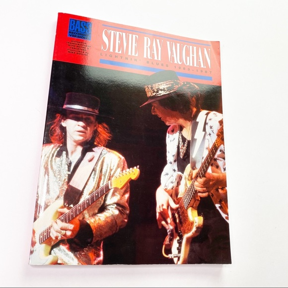 Vintage Other - Vintage Stevie Ray Vaughn Bass Music Book Learning
